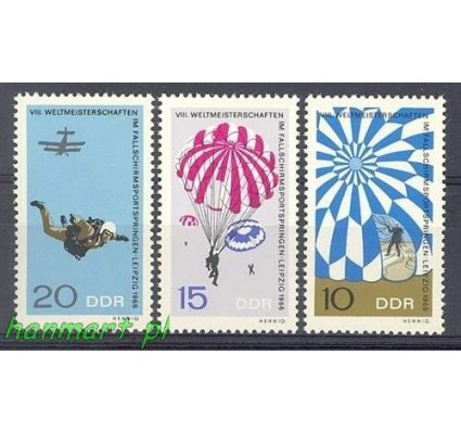 Znaczek NRD / DDR 1966 Mi 1193-1195 Czyste **