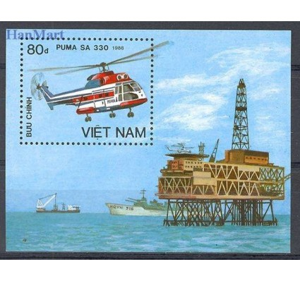 Znaczek Wietnam 1989 Mi bl 68 Czyste **