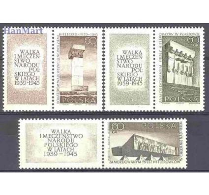 Znaczek Polska 1965 Mi zf 1632-1634 Fi zf 1483-1485 Czyste **