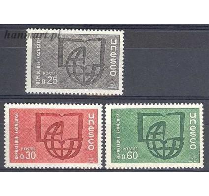 Znaczek Francja 1966 Mi une 6-8 Czyste **