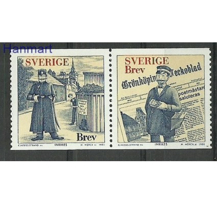 Znaczek Szwecja 2002 Mi 2310-2311 Czyste **