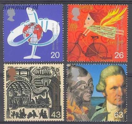 Wielka Brytania 1999 Mi 1782-1785 Czyste **