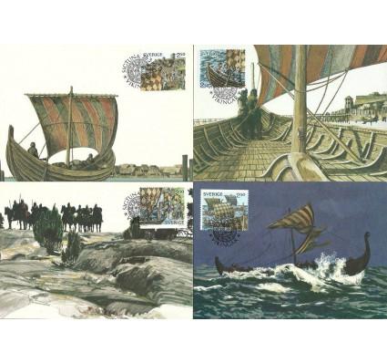 Znaczek Szwecja 1990 Mi 1593-1594+1597-1598 Karta Max