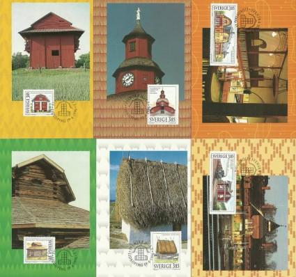 Znaczek Szwecja 1996 Mi 1937-1942 Karta Max