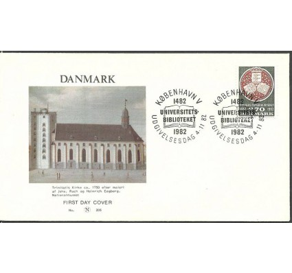 Znaczek Dania 1982 Mi 766 FDC