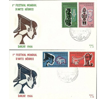 Znaczek Kongo Kinszasa / Zair 1966 Mi 254-257 FDC
