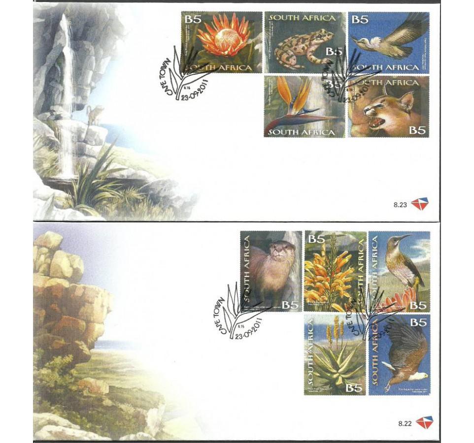 Republika Południowej Afryki 2011 Mi 2079-2088 FDC