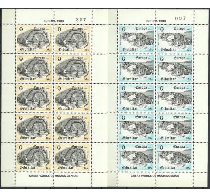 Znaczek Gibraltar 1983 Mi ark 463-464 Czyste **