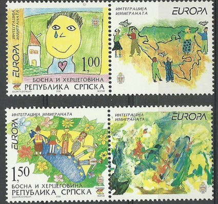 Znaczek Republika Serbska 2006 Mi zf 366-367 Czyste **