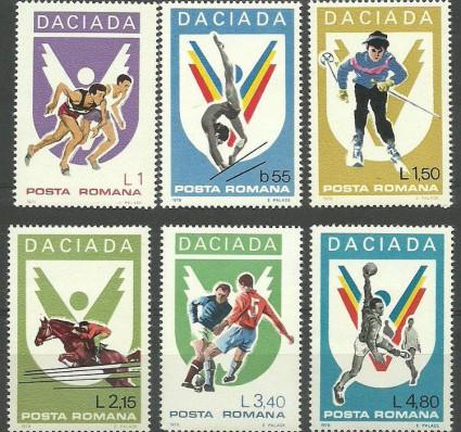 Znaczek Rumunia 1978 Mi 3542-3547 Czyste **