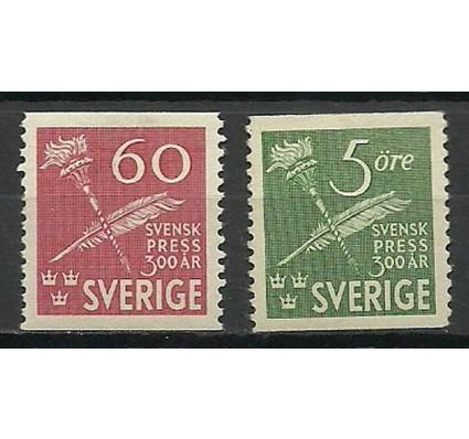 Znaczek Szwecja 1945 Mi 312-313 Czyste **