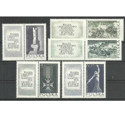 Znaczek Polska 1963 Mi zf 1533-1537 Fi zf 1384-1388 Czyste **