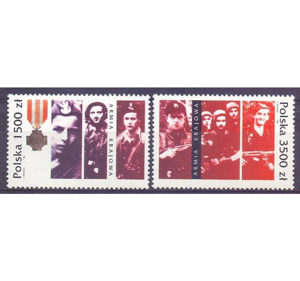Polska 1992 Mi 3413-3414 Fi 3265-3266 Czyste **