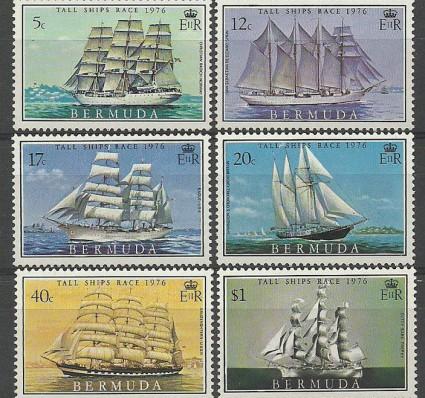 Znaczek Bermudy 1976 Mi 326-331 Czyste **