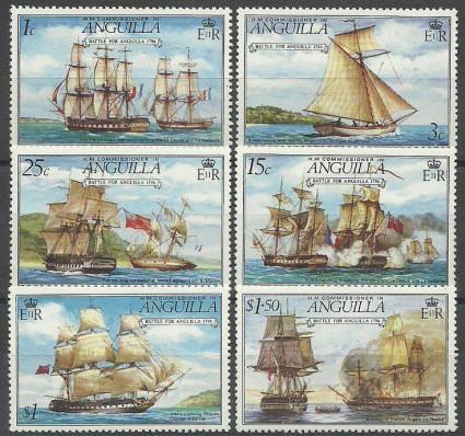 Znaczek Anguilla 1976 Mi 257-262 Czyste **