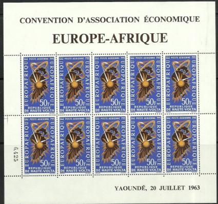 Znaczek Burkina Faso 1964 Mi ark 141 Czyste **