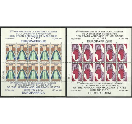 Znaczek Kamerun 1965 Mi ark 435-436 Czyste **