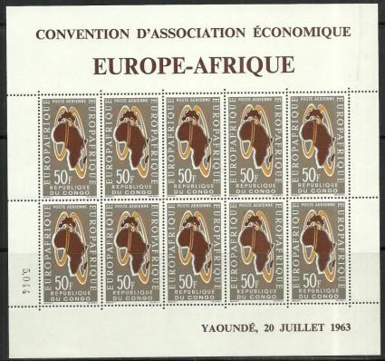 Znaczek Kongo 1963 Mi ark 37 Czyste **