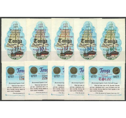 Znaczek Tonga 1977 Mi 619-628 Czyste **