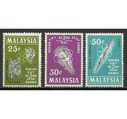 Znaczek Malezja 1965 Mi 27-29 Czyste **