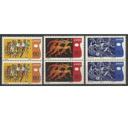 Znaczek Polska 1970 Mi 2010-2012 Fi 1863-1865 Czyste **