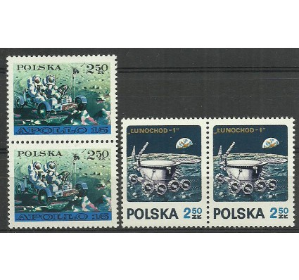 Znaczek Polska 1971 Mi 2122-2123 Fi 1975-1976 Czyste **