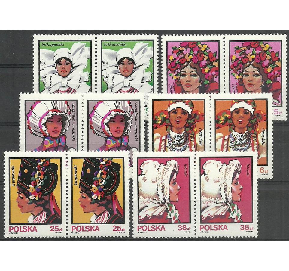 Polska 1983 Mi 2891-2896 Fi 2743-2748 Czyste **