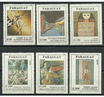 Znaczek Paragwaj 1991 Mi 4557-4562 Czyste **