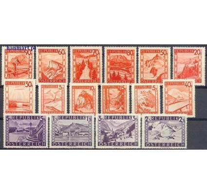 Znaczek Austria 1947 Mi 838-853 Czyste **