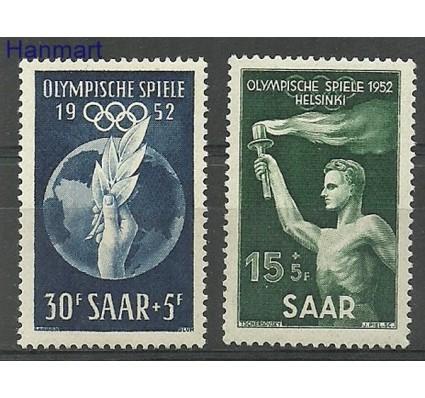 Znaczek Saara 1952 Mi 314-315 Czyste **