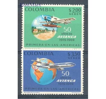 Znaczek Kolumbia 1969 Mi 1156-1157 Czyste **