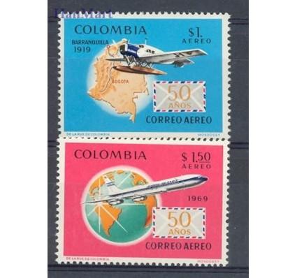 Znaczek Kolumbia 1969 Mi 1147-1148 Czyste **