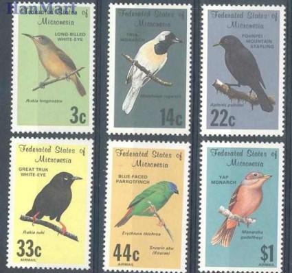 Znaczek Mikronezja 1988 Mi 77-82 Czyste **