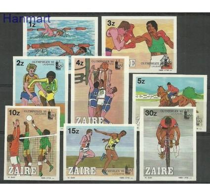 Znaczek Kongo Kinszasa / Zair 1985 Mi 889-896B Czyste **