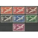 Kamerun 1942 Mi 238-244 Czyste **