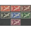Nowa Kaledonia 1942 Mi 296-302 Czyste **