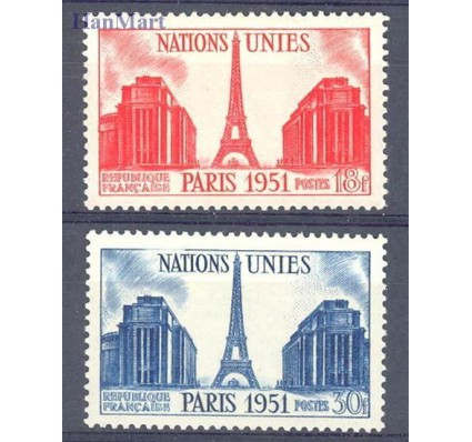 Znaczek Francja 1951 Mi 929-930 Czyste **