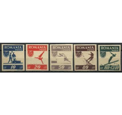 Znaczek Rumunia 1946 Mi 1000-1004B Z podlepką *