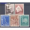 Indonezja 1958 Mi 232-236 Czyste **
