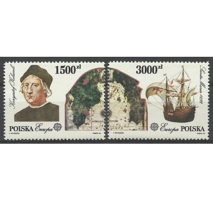 Znaczek Polska 1992 Mi 3377-3378 Fi 3229-3330 Czyste **