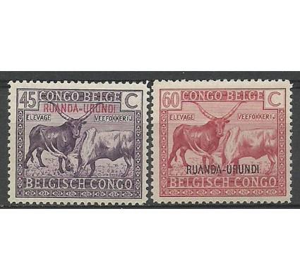 Znaczek Ruanda - Urundi 1925 Mi 19-20 Czyste **