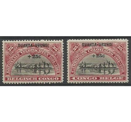 Znaczek Ruanda - Urundi 1925 Mi 21-22 Czyste **