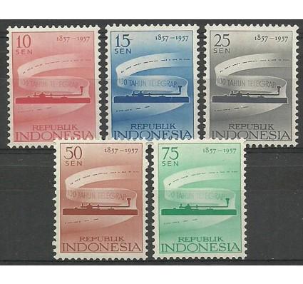 Znaczek Indonezja 1957 Mi 196-200 Czyste **