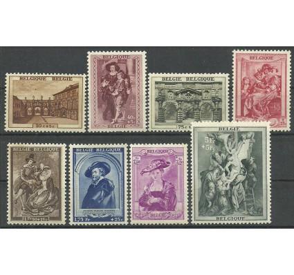 Znaczek Belgia 1939 Mi 506-513 Z podlepką *