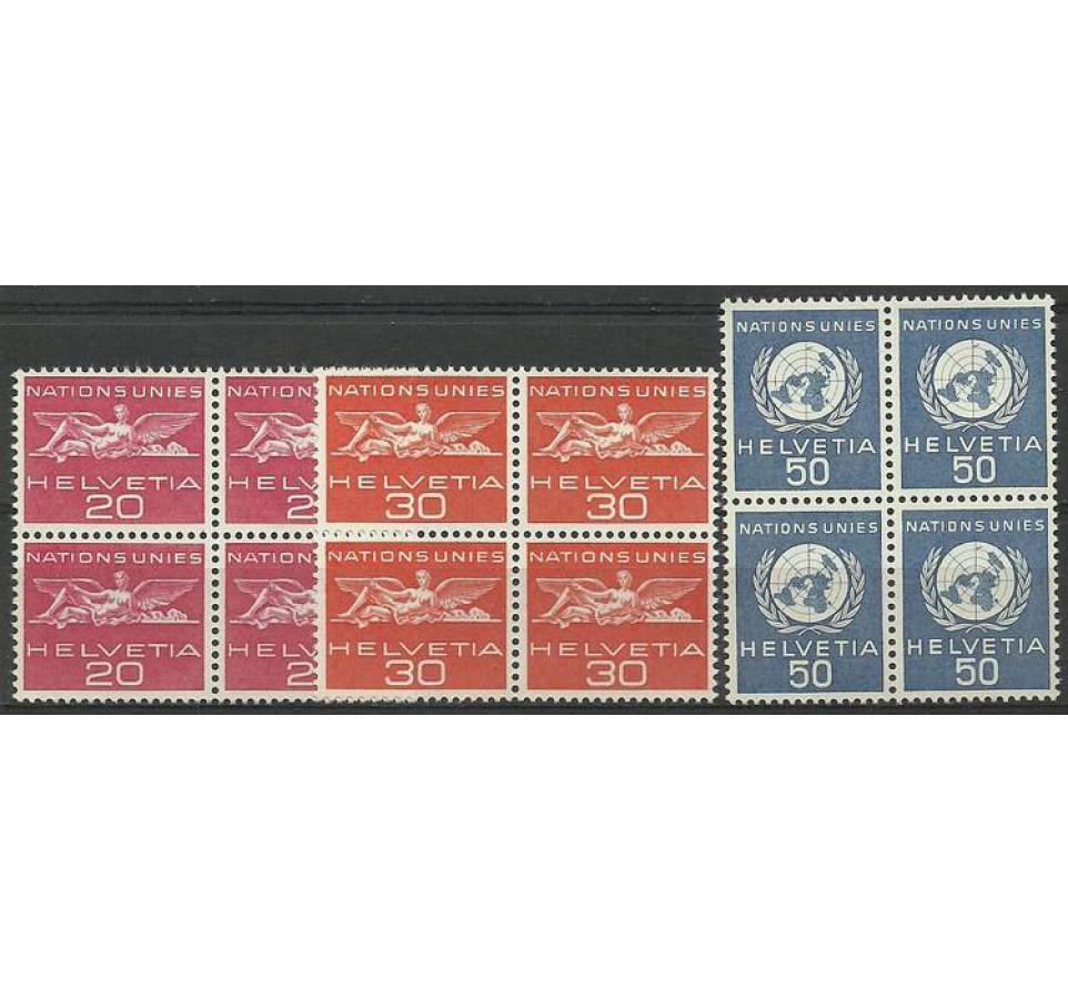 Szwajcaria 1960 Mi uno 28-30 Czyste **