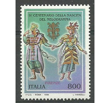 Znaczek Włochy 1998 Mi 2557 Czyste **