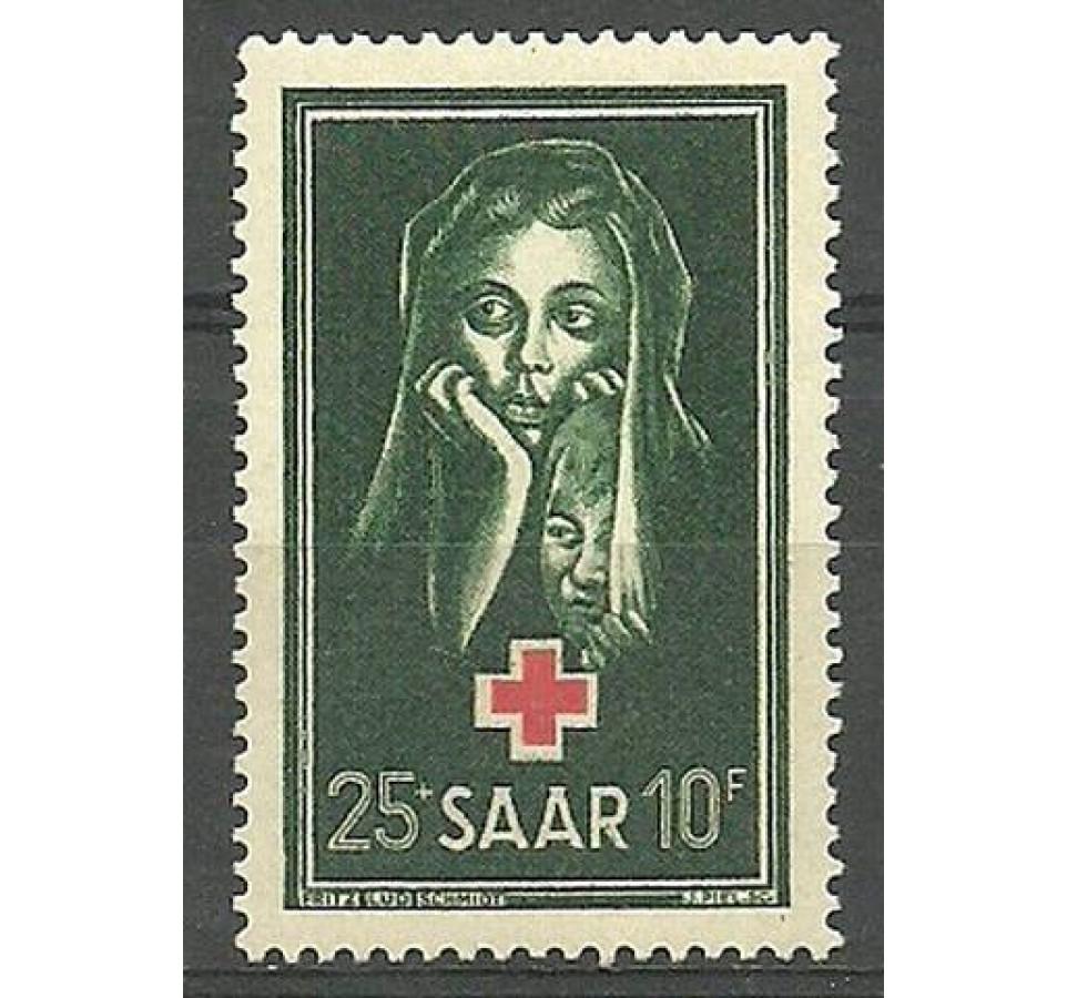 Saara 1951 Mi 304 Z podlepką *
