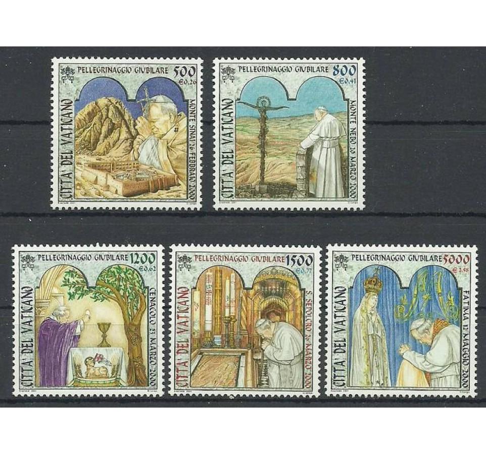 Watykan 2001 Mi 1375-1379 Czyste **
