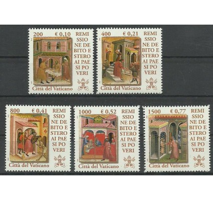 Znaczek Watykan 2001 Mi 1381-1385 Czyste **