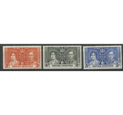 Znaczek Honduras Brytyjski 1937 Mi 109-111 Czyste **
